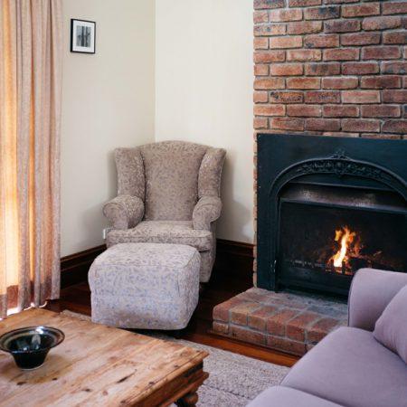 Open fire in lounge area