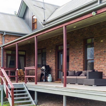 BBQ on large 'wraparound' verandah for outdoor dining