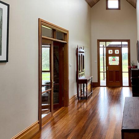 Graceful, wide hallway